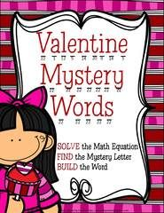 ENTER TO WIN Valentine Mystery Words - Just in time for Valentine's Day. A fun math and literacy activity for the whole class. 5 Lucky Winners - Enter to win!!!.  A GIVEAWAY promotion for Valentine Mystery Words (Math and Literacy Activity) from RFTS PreK-Kindergarten on TeachersNotebook.com (ends on 1-29-2016)
