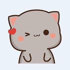Cute Cartoon Images, Cute Love Cartoons, Cute Cartoon Wallpapers, Cute Images, Cute Anime Cat, Cute Anime Pics, Overlays Cute, Chibi Cat, Cute Couple Wallpaper