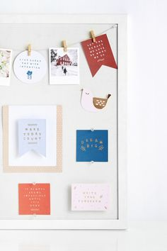 Create a beautiful and inspiring Vision Board with this pretty set of quotes cards