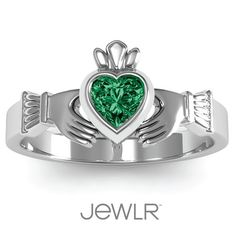 The Claddagh Ring represents love, loyalty and friendship.  #irish
