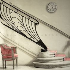 Deco Stair:  This is the entry of the dressing rooms in the Theater on the Champs Elysées in Paris.