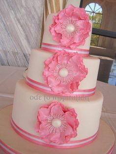 My First Wedding Cake!! by Ode to Inspiration, via Flickr