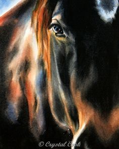 Horse Print Fine Art Giclee 8 x 10 Reproduction by CrystalCookArt, $20.00