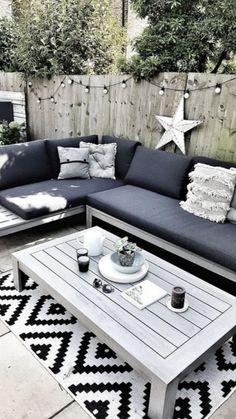Creating a Scandi Inspired Garden Seating Area — Malmo & Moss - Garden Furniture Backyard Seating, Backyard Patio Designs, Outdoor Seating Areas, Outdoor Spaces, Backyard Ideas, Outdoor Lounge, Diy Patio, Small Garden Ideas Seating Area, Patio Area Ideas