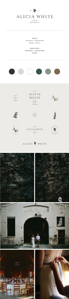 Alicia White Photography branding by Saturday Studio