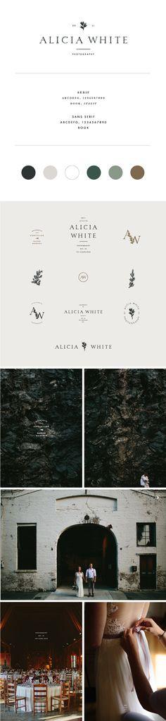 Alicia White Photography branding by Saturday Studio