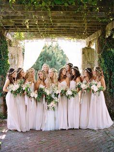 Westport, Massachusetts Wedding Part II Romantic pale pink bridesmaid dresses: Photography: Brumley And Wells - Romantic pale pink bridesmaid dresses: Photography: Brumley And Wells -