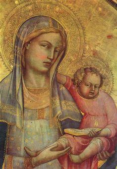 Lorenzo Monaco | Madonna dell'Umiltà, ca. 1404, tempera on wood, a Pinacoteca Museo della Collegiata di Sant'Andrea si trova ad Empoli, in provincia di Firenze.