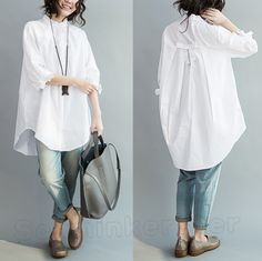 Get it now with Discount , Click the pict for detail Long Shirt Outfits, White Shirt Outfits, Kurta Designs, Blouse Designs, Iranian Women Fashion, Womens Fashion, Mode Outfits, Casual Outfits, Hijab Fashion