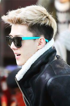  EXO  Sehun. That's my fav hair on him <3