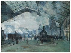 Building a Capsule Wardrobe by Starting with Art: Arrival of the Normandy Train, by Claude Monet