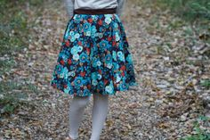 A Garden of Turquoise Wrap Skirt on etsy