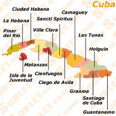 Mapa actual de las provincias Cubanas.                                                                                                                                                      More