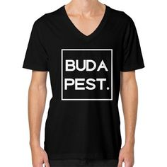 Budapest Dark V-Neck Downtown Los Angeles, Budapest, American Apparel, V Neck, Dark, Cotton, Mens Tops, T Shirt, Fashion
