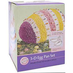 Wilton 3-D Easter Egg Cake Pan Set Easter Egg Cake Pan, Easter Eggs, Egg In Vinegar, Pan Set, Boiled Eggs, Cake Pans, 3 D, Make It Yourself, Holiday