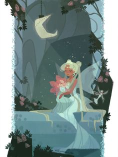 """10 Pieces Of """"Sailor Moon"""" Fan Art That You Need To See Right Now 6. QUEEN SERENITY HELD HER BABY BECAUSE SHE WAS NOW THE CHAMPION OF MOTHERHOOD AND BEING AMAZING."""