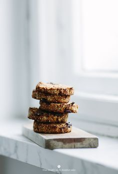 Oat cookies with nuts, cranberries and banana