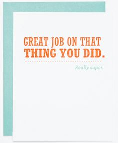 Oh So Beautiful Paper: Stationery A – Z: New Job Congratulations