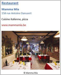 Restaurant Mamma Mia - 158 rue Antoine Dansaert - Pentagone