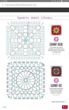 Transcendent Crochet a Solid Granny Square Ideas. Inconceivable Crochet a Solid Granny Square Ideas. Motifs Granny Square, Granny Square Crochet Pattern, Crochet Blocks, Crochet Diagram, Crochet Stitches Patterns, Crochet Chart, Crochet Squares, Crochet Motif, Granny Squares