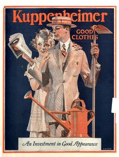 Kuppenheimer ad. The Saturday Evening Post. May 20, 1922.