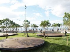Thessaloniki New Waterfront Landscape Design by Nikiforidis-Cuomo Architects in Thessaloniki, Greece.