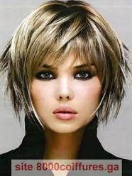 Résultats de recherche dimages pour « coupe mi courte femme visage rond cheveux épais