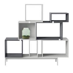 top3 by design - MUUTO NEW NORDIC - muuto stacked shelf open dark grey L