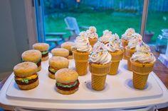 Cheese burger and icecream cupcakes!