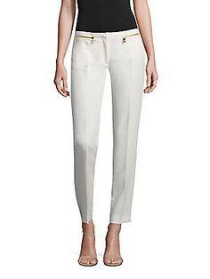 Versace Collection Skinny Zip-Pocket Pants