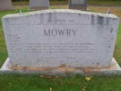 Roger Mowry 1612–1666 BIRTH 1612 • Roxbury, Suffolk, Massachusetts, America DEATH 1666 JAN 05 • Providence Prvdnc, Rhode Island, America husband of 10th great-aunt Martha Johnson-Mowry. Burial: Union Cemetery, North Smithfield, Providence County, Rhode Island, America (Jackson Family)
