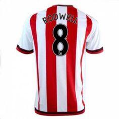 Sunderland AFC Home 16-17 Season Rodwell #8 Red Soccer Jersey [I328]