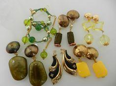Lot earrings  vintage 1970 Italian  mix di VintageItalianJewel, $38.00