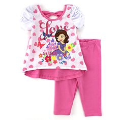 Disney Junior Sofia The First Toddler Top Leggings Pants Set Tops For Leggings, Leggings Are Not Pants, Disney Outfits, Kids Outfits, Pjs, Pajamas, Sofia The First, Disney Junior, Baby Kids Clothes