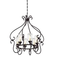 Set this stylish chandelier in the dining room to tie together your elegant ensemble, or let it cast a warm glow in the foyer for a charming welcome.