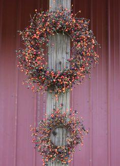 "Berry Wreath - Two Piece Set - 20""/15""- Autumn Berry - Flora Decor"