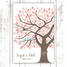 Wedding Guest Book Tree Unique Guest Book by MooseberryPrintShop, $46.00