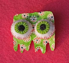 Love Spilth design and her eyecatching creations... these earrings are one of my personal faves... https://www.etsy.com/uk/listing/245198381/small-felt-eyeball-earrings?ref=shop_home_active_10