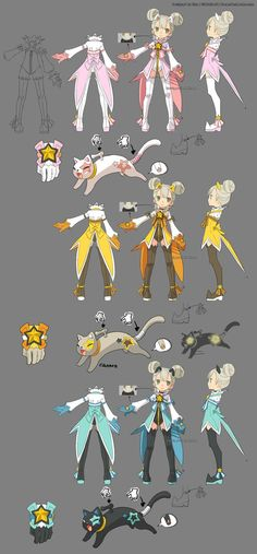 After the contest, I was been told by the official that my academic costume designs weren't fit for 3D modeling.= So I redesigned the old one to these. The model academic is my Gearmaster Elaine. T...