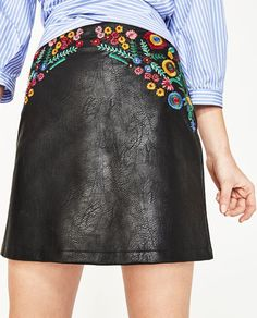 Image 2 of FLORAL EMBROIDERY SKIRT from Zara