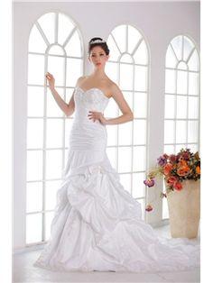 Awesome Trumpet Mermaid Sweetheart Floor Length Chapel Embroidery Angelas Wedding Dresses