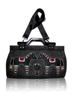 Plstěná vyšívaná kabelka GODDESS (odepínací popruh) 35-51916 Bowling Bags, Gym Bag, Handbags, Folk, Design, Lovers, Polish Language, Handicraft, Totes