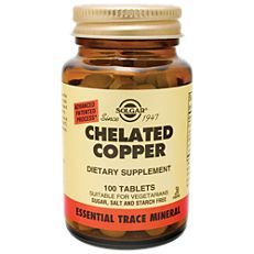 Chelated Copper Essential Trace Mineral 100 Tablets Trace Minerals Minerals Copper