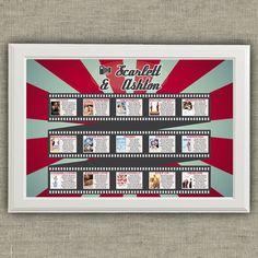 Cinema and movie Theme Wedding Seating Chart - Printable file - wedding table plan Reception Seating Chart, Wedding Reception Seating, Seating Chart Wedding, Seating Charts, Wedding Places, Wedding Place Cards, Wedding Signs, Wedding Stuff, Nerd Party