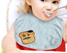 I love embroidery but haven't ever posted an embroidery project, so when Nellie offered this cute French Toastie bib project, I couldn't resist. So cute!  She also includes some very clear diagrams to teach you the various stitches used.