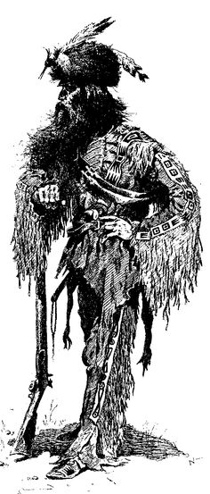 HUGH GLASS (c.1780-1833) was an American fur trapper and frontiersman noted for his exploits in the American West during the first third of the 19th century. He is famous as an explorer of the watershed of the Upper Missouri River in present day North Dakota, South Dakota and Montana. Glass was famed, most of all, as a frontier folk hero for his legendary cross-country trek after being mauled by a grizzly bear (drawing is not Hugh, no portrait has ever been found).