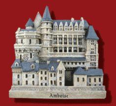 Zamek w Amboise - pamiątkowy magnes / souvenir, Château d'Amboise