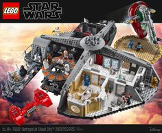 LEGO has released solicitations information for their upcoming Star Wars: Betrayal at Cloud City Set. Fans might remember the first Cloud City playset that is highly sought after on the seco… Lego Star Wars, Star Wars Minifigures, Star Wars Toys, Legos, Cloud City, Lego War, Lego News, Star Destroyer, Lego Marvel