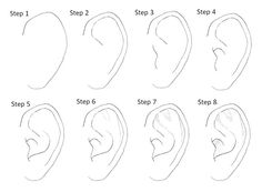 Manga Drawing Tips Best ear tutorial yet! Drawing Skills, Drawing Lessons, Drawing Techniques, Drawing Tips, Drawing Sketches, Sketching, Drawing Faces, Drawing Drawing, Drawing Ideas