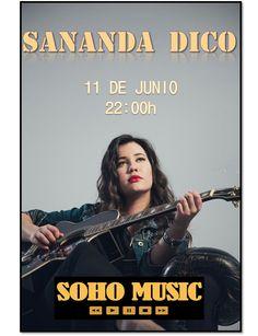 Ven a ver el concierto de Sananda Dico gratis y te invitamos a la 2º consumición!! ¿Te lo vas a perder?